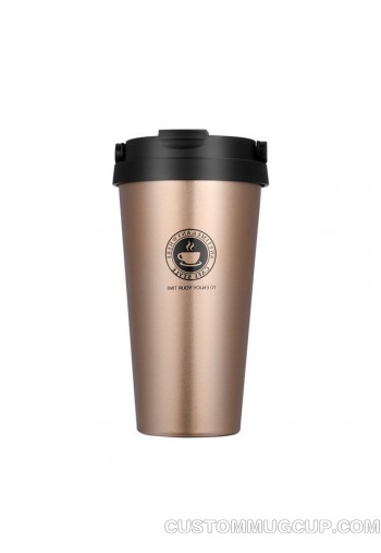 Engraving Vaccuum-Insulated Stainless Steel Travel Mug ,500ML Stainless Steel Coffee Cup 3 Colors