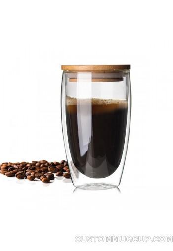 Custom Mugs And Personalized Mugs Double Wall Glass Coffee Mug