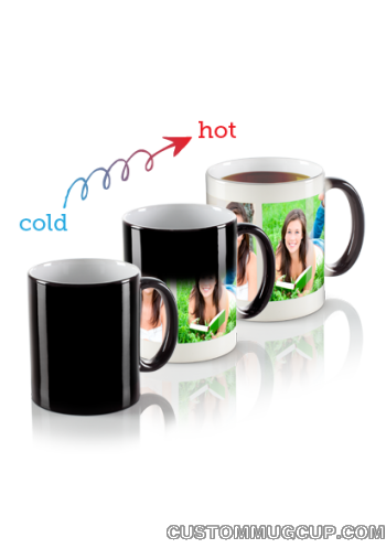 11oz Personalized Magic Mug Custom Magic Photo Mug Color