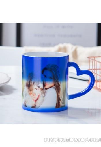 7e4e0b1e2c8 Custom mugs and Personalized mugs Magic Custom Photo Coffee Mug ,  Personalized DIY Ceramic Custom Heart shape Handle mug Hot Heat Sensitive  Cup Black ...