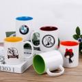 11oz two tone solid color mug , custom logo mug ,personalised coffee mugs