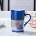 450ML color changing mug heat sensitive coffee mug,hot water mug for gift black,blue,red color