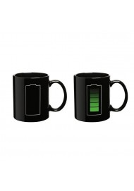 Animated Battery Coffee Mug,Battery Morph Mug, Battery Color Changing Mug,Amazing ceramic cup
