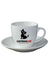 Order 250ml customized logo large cappuccino coffee cups and saucers online