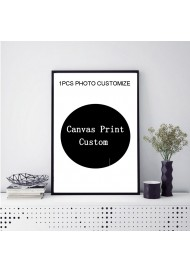 Personalized Gift Custom Poster Any Size Print Canvas Wall Art with Your Photo Painting Decoration Picture for Living Room