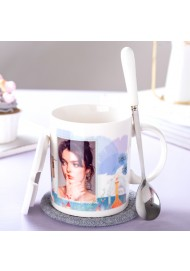 Create your own mugs,Customized coffee mug,Personalized Mug,Photo Coffee mugs Ceramic/Bamboo Lid Spoon