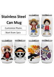 DIY Photo Can Mug Double Stainless Steel Vacuum Insulation Cup Cola Can Cup Sublimation