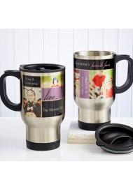 16-Ounce Double Wall Insulated Personalized Photo Travel Mug Stainless Steel