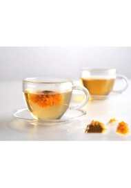 Double wall clear glass tea/coffee cup & heat-resistant glass cup saucers 100ml