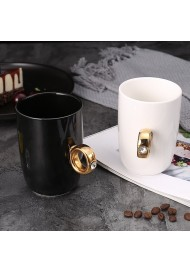 2 Carat Diamond Ring Ceramic Coffee Cup Engagement Ring Mug Gift Box Package