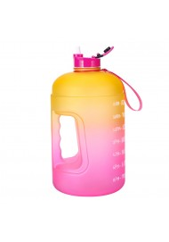 Large 1 Gallon Motivational Water Bottle - Leakproof Tritan BPA Free Fitness Sports Water Jug with Time Marker to Ensure You Drink Enough Water Daily