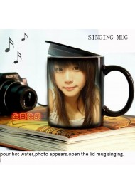 Creative color changing mug singing magic mug music mug best for gift