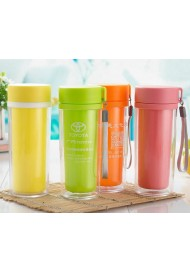Custom Mug Multi color Hiking Travel Mug Hand Portable Plastic Mug Double wall plastic mug