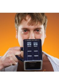 Fashion Original Doctor Who Ceramic Coffee Cups Tardis Mug With Removable Lid Police Box Mugs