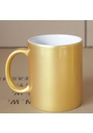 Personalized pearlescent golden coffee mug cup custom mug for gift and promotion