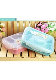 4+1 Microwave food  Bento lunch box Food Container tableware dinnerware sets kitchen cooking tools