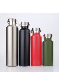 Large Capacity 304 Vacuum Stainless Steel Bottle Laser Engraving Logo Thermos Cup Portable Outdoor Sports Kettle Customized Logo