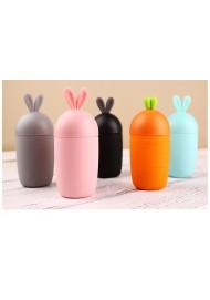 Creative portable glass mug lovely rabbit children cup personality glass mug 260ML