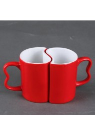 2pcs/set Creative Couples Magic mug/Love Cup/mug change color coffee cup/heart shaped mug cup/wedding gift/Valentine's day gifts