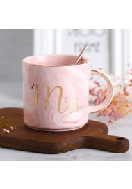 Ceramic Mug Marbling Coffee Mug Mr and Mrs Coffee Mugs Set Unique Gift for Him Her for Parents for Valentine's day