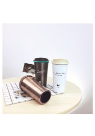 500ML Stainless steel insulation cup Custom travel mug Vacuum cup with handle