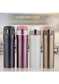 Custom logo Insulated Travel Mug for Coffee And Tea ,stainless steel 16OZ travel mug