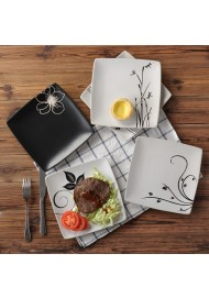 Ceramic Restaurant Steak Dishes Dinner Plate Square Flat Plate Beefsteak Dish Household Tableware Pasta Dish