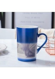 450ML color changing mug heat sensitive coffee mug,hot water mug for gift black,blue,red color