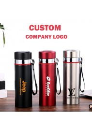 500ML Stainless Steel Travel Mug Vacuum Insulated Coffee Mug Portable Travel Mug with Filter Custom Engraving Logo