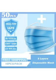 Disposable Surgical Medical Mask 3-Ply Filter Anti-dust Non-Woven Nose Proof Earhook Face Mouth Masks