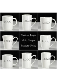 Personalized White Coffee Mug Custom Ceramic Coffee Mugs Cups - Print Your Logo Name Message or Text Multi shape Factory directly