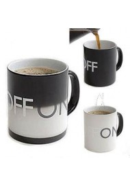 ON OFF Color Changing Mug Cup Amazing Ceramic Cup Temperature Changing