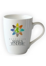 11oz Drum Shaped Ceramic Mug With Custom Logo and Design