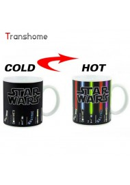 Personalized Color Change  Mug Star Wars Lightsaber 11oz Ceramic Coffee Mug Dragon Ball Series- Great Gift For Star Wars Fans!