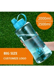 Large Capacity Water Bottle Portable Plastic Cup Outdoor Sports Bottle Cup 2000 ml