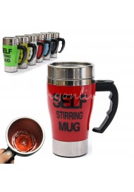 New Style six colors Stainless Steel Lazy Self Stirring Mug Auto Mixing Tea Milk Coffee Cup For Gift Eco-Friendly