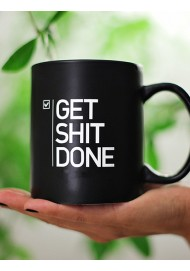"11oz ceramic coffee mug with  "" Get Shit Done """