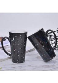 16 OZ Heat Sensitive Ceramic Coffee/Milk/Tea Cup with Starry Sky-Color Changing mug for Home and Office