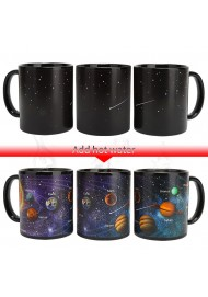 Starry Solar System Magic Mug,Heat Sensitive Corree Mug ,Ceramic Color Changing Mug Creative gift