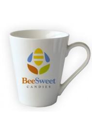 """11oz """" V"""" shape ceramic custom mug, ceramic coffee mugs with logo"""