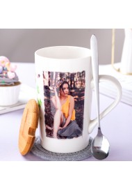 580ml mug+spoon+bamboo lid