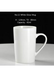 No.12 white mug