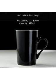 No.12 black mug