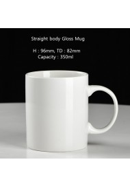Straight body mug shape