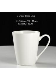 V shape mug