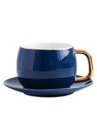 Ceramic Coffee Cup Set with Saucer and Spoon