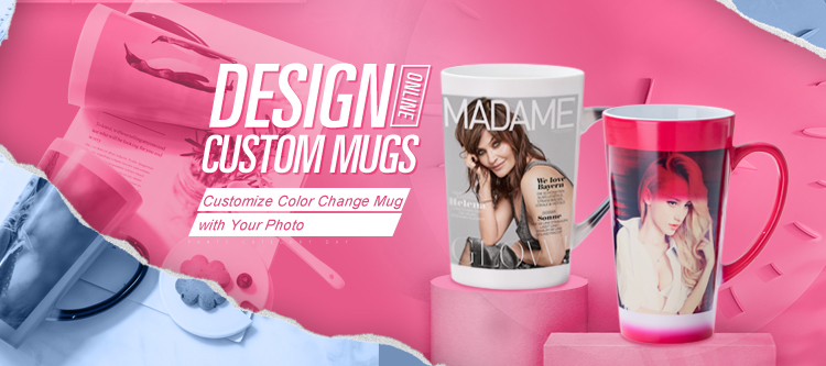 11oz standard customized  magic photo mugs