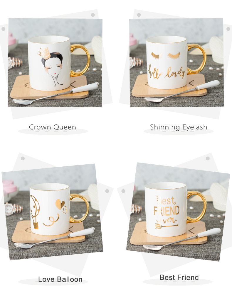 Custom Mugs And Personalized Mugs 11oz Ceramic Real Gold