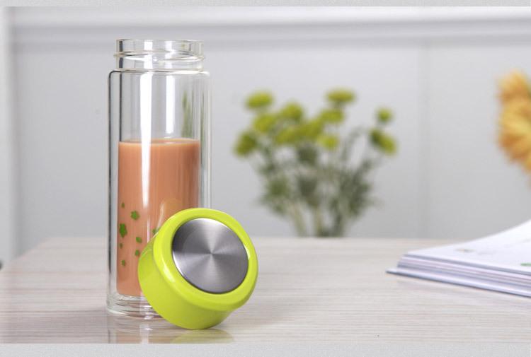 double wall glass mug