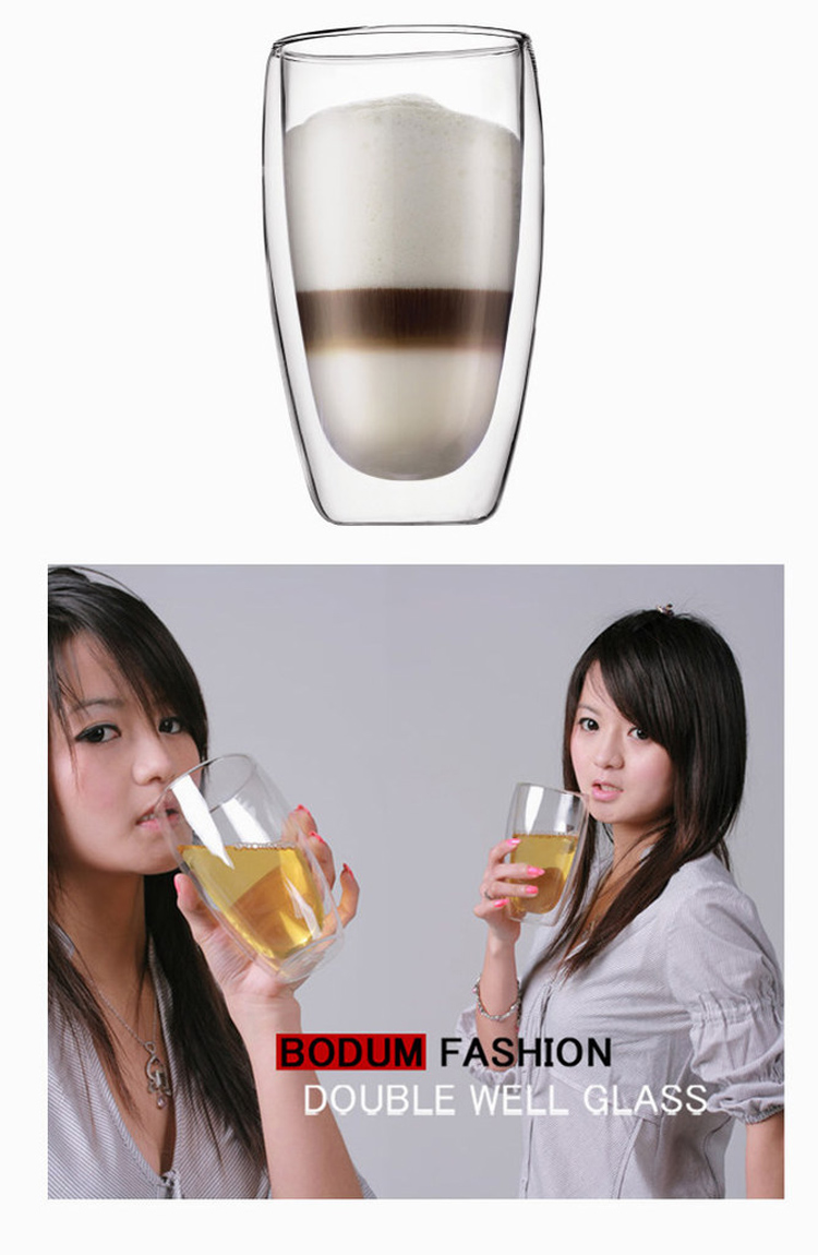 double wall egg glass cup